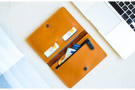 Kožená cestovní peněženka // CLIMB (Brown)