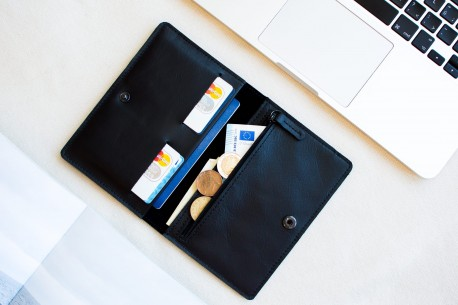 Leather travel organiser // CLIMB (Black)