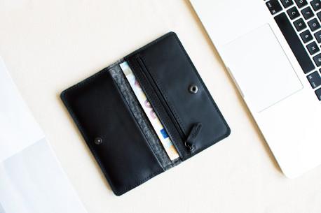 Kožená peněženka na iPhone 12, 11 Pro & Xs Max // SEVEN (Black)