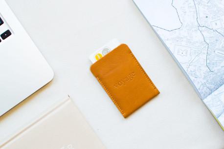 Leather pocket wallet // BORT (Brown)