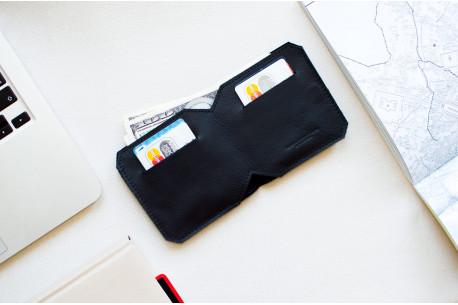 Kožená slim peněženka // FRANK (Black)