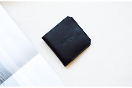 Leather slim wallet // FRANK (Black)