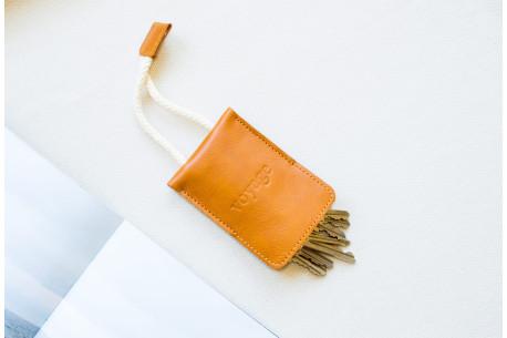Kožená klíčenka // WRIST (Brown)