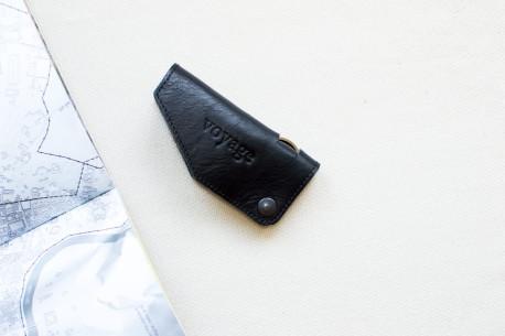 Leather key holder // HOOK (Black)