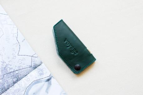 Leather key holder // HOOK (Green)