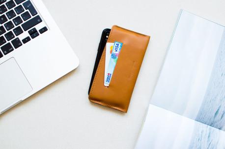 Kožený obal na iPhone // SLIM (Brown)
