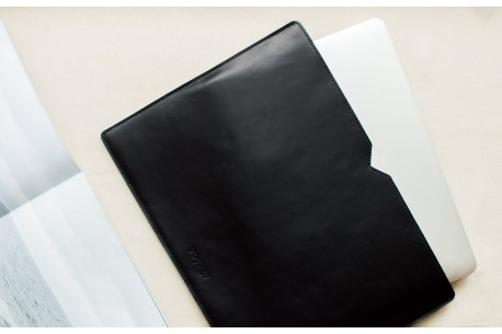 "Leather sleeve MacBook 12"" & 13"" // LOFT (Black)"