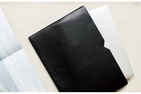 Leather MacBook sleeve // LOFT (Black)