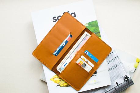 Smartphone leather wallet // HANK (Brown)