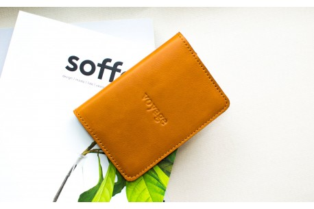 Leather passport cover // TRAVEL (Brown)