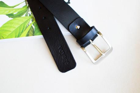 Men's leather belt // PIKE (Black)