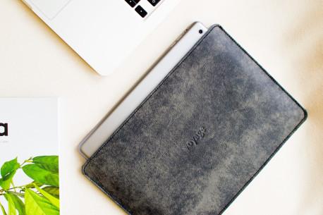 """Leather sleeve iPad 11"""",10.5"""",12.9"""" // SLIM (Graphite)"""