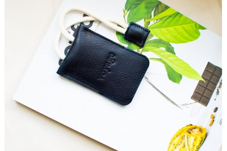 Leather key holder // WRIST (Blue)