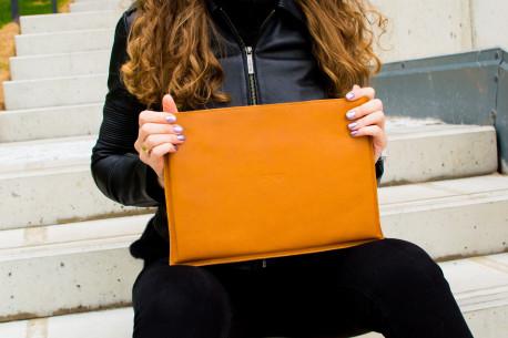 """MacBook 12"""",13"""",15"""" leather sleeve // SLIM (Brown)"""
