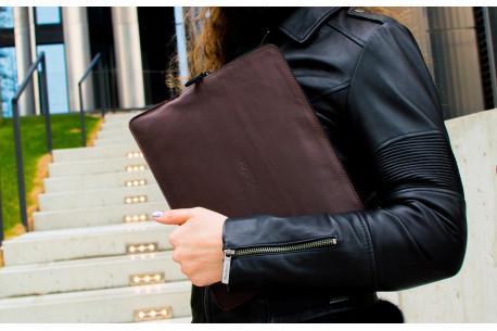 """MacBook 12"""",13"""",15"""" leather folio // SAFE (Coffee)"""