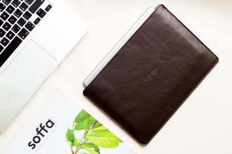 """Leather sleeve iPad 11"""",10.5"""",12.9"""" // SLIM (Coffee)"""