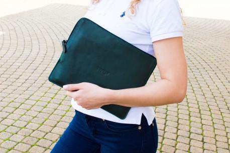 "Leather folio iPad 11"" & 12.9"" // SAFE (Green)"