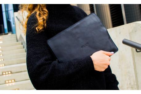 Kožený obal na iPad // SAFE (Navy Blue)