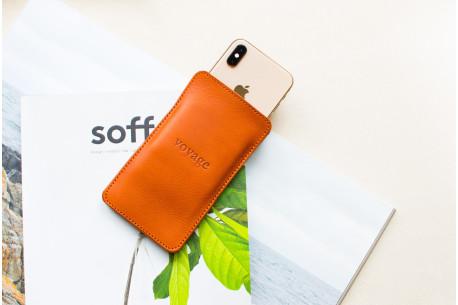 Kožený obal na iPhone Xs, Xr & Xs Max // LAPORT (Chestnut)