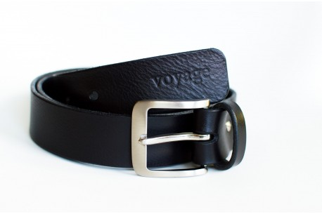 Men's leather belt // PIKE (Black)