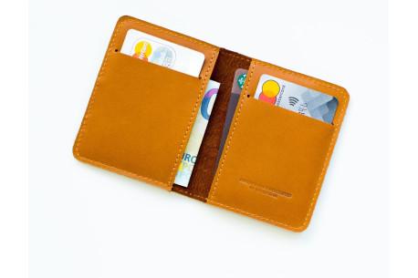 Leather pocket wallet // STAFF (Brown)