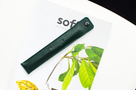 Kožené pouzdro na tužky // PLUME (Green)