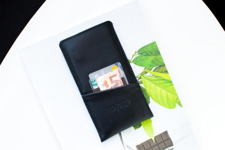 Kožený obal na iPhone 12, 11 Pro & Xs Max // PELTA Plus (Black)