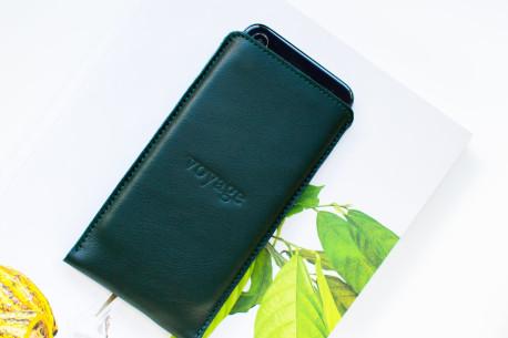 Kožený obal na iPhone Xs, Xr, Xs Max // PELTA (Green)