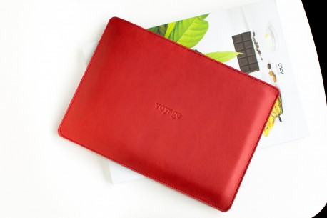"Leather sleeve iPad 11"",10.5"",12.9"" // SLIM (RED)"