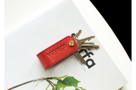 Kožená Klíčenka // DOM (Red)