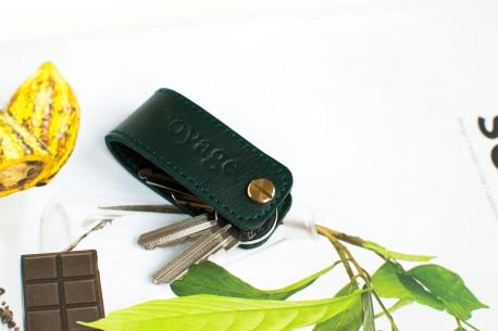 Kožená Klíčenka // DOM (Green)