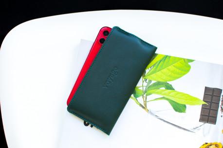 Kožený obal na iPhone 12, 11 Pro & Xs Max // SLIM (Green)