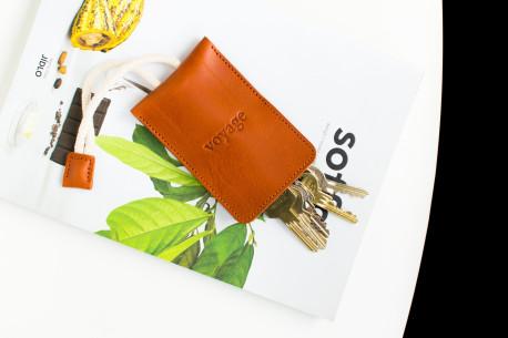 Leather key holder // WRIST (Chestnut)