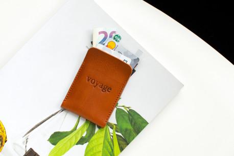 Leather pocket wallet // BORT (Chestnut)