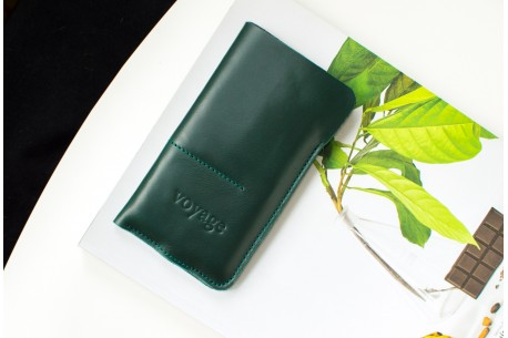 Kožený obal na iPhone 12, 11 Pro & Xs Max // ALTER (Green)