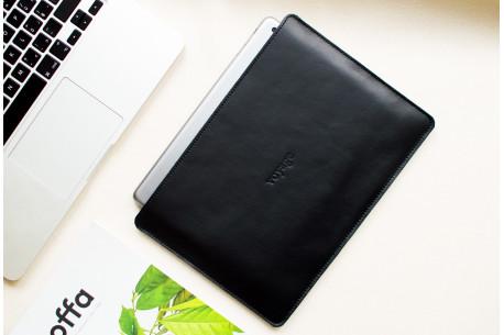 Leather MacBook sleeve// SLIM (Black)