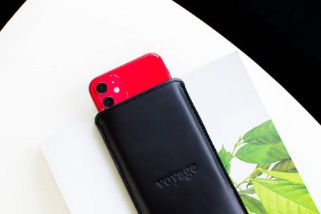 Kožený obal na iPhone Xs, Xr, Xs Max // PELTA (Black)