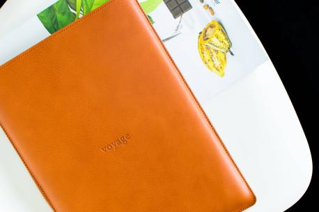 Leather MacBook sleeve // PELTA (Chestnut)