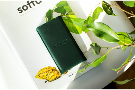 iPhone leather sleeve // PELTA (Green)