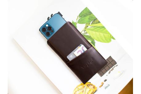 Kožený obal na iPhone 12, 11 Pro & Xs Max // PELTA Plus (Coffee)