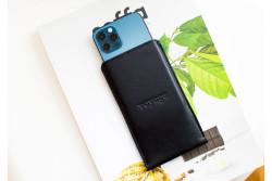 Kožený obal na iPhone 12, 11 Pro & Xs Max // PELTA (Black)