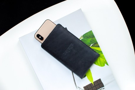 iPhone leather sleeve // PELTA (Grey)