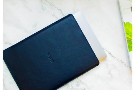 Leather MacBook sleeve // PELTA (Blue)
