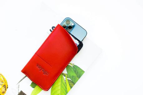 Kožený obal na iPhone // ALTER (Red)
