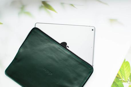 Kožený obal na iPad // SAFE (Green)