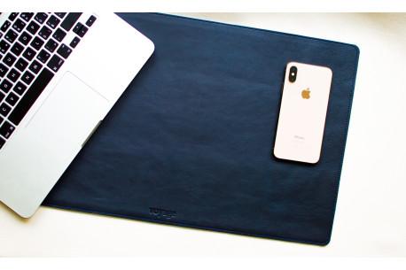Leather desk pad // LAPLORD (Blue)