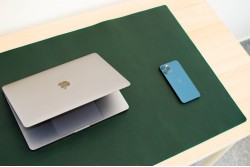 Kožená podložka na stůl // LAPLORD (Blue)