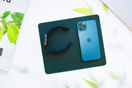 Leather mouse pad // LAPLORD (Green)