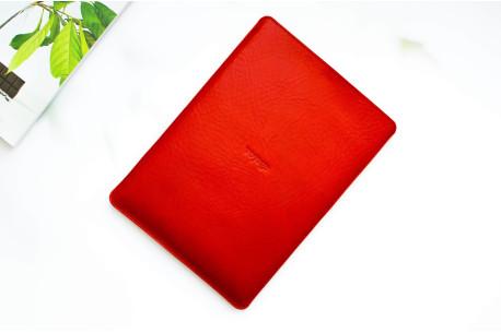 Kožený obal na iPad // Pelta (Red)
