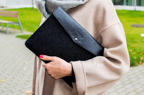 Leather MacBook case // ANKER (Black)